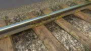 Old Railway section 12.5m (1.52m) 3d model
