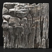 Slab steen rots graniet enorme n2 3d model