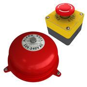 산업 화재 경보 및 비상 버튼 3d model