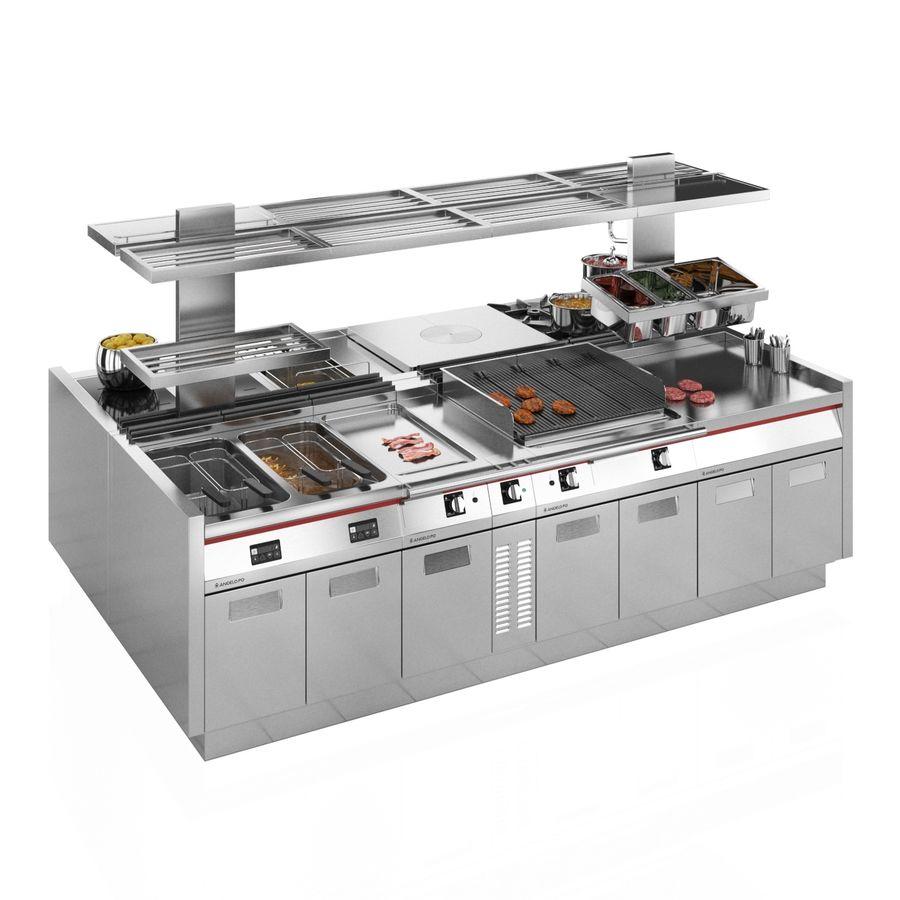 Cucina Modulare Angelo Po Icon9000 Modello 3d 14 Max Fbx Obj Free3d