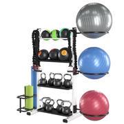 Fitness tillbehör rack 3d model