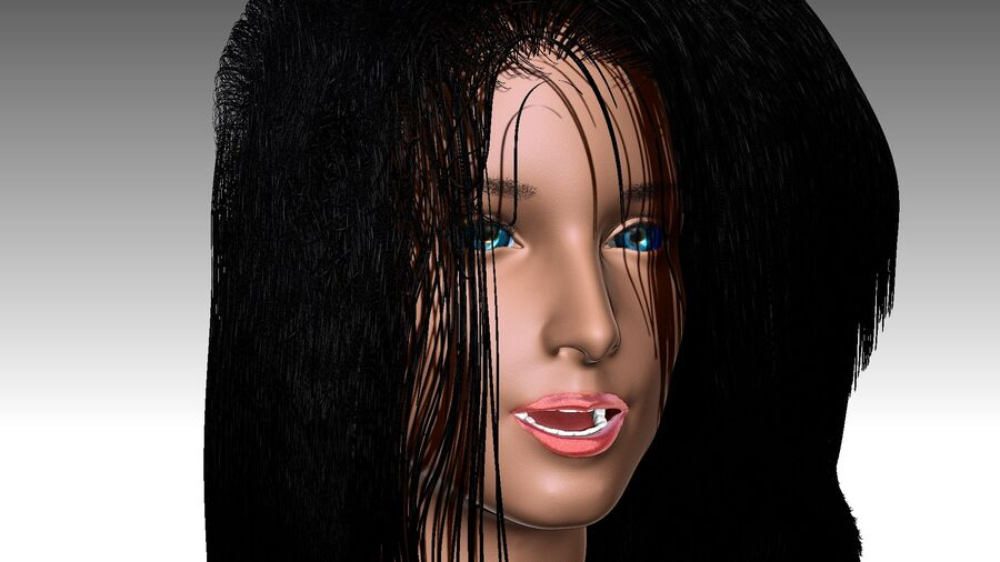 Isabella Smith head royalty-free 3d model - Preview no. 15