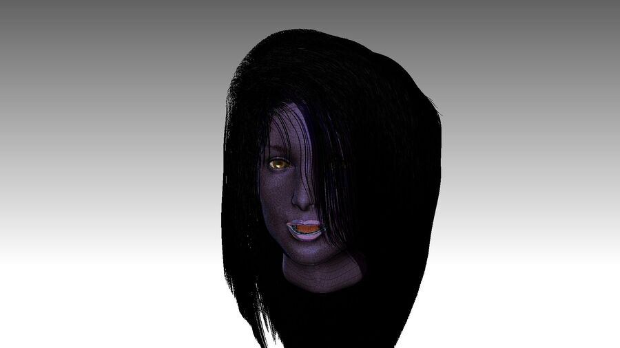 Isabella Smith head royalty-free 3d model - Preview no. 27
