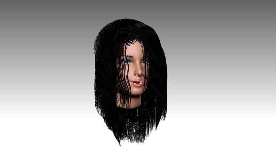 Isabella Smith head royalty-free 3d model - Preview no. 32