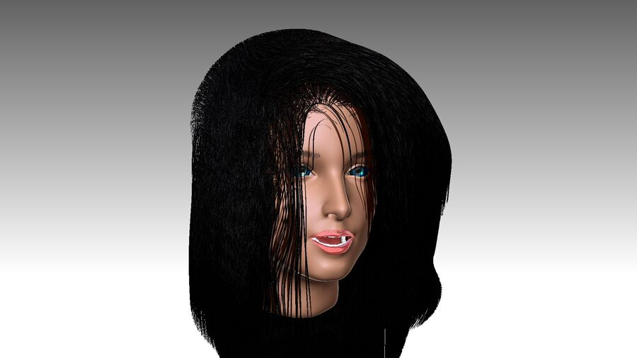 Isabella Smith head royalty-free 3d model - Preview no. 25