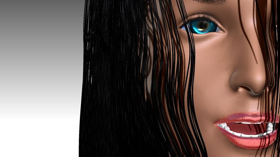 Isabella Smith head royalty-free 3d model - Preview no. 14