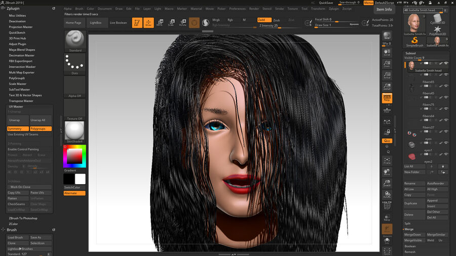 Isabella Smith head royalty-free 3d model - Preview no. 1