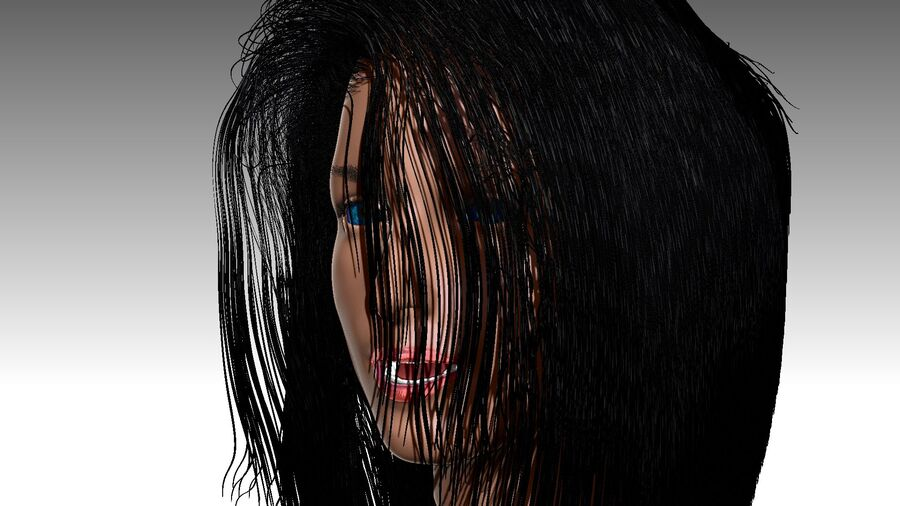 Isabella Smith head royalty-free 3d model - Preview no. 22