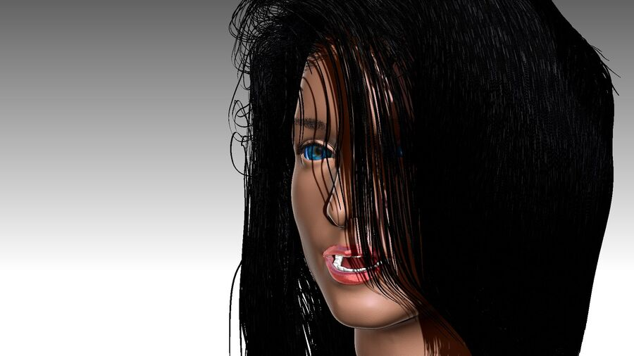 Isabella Smith head royalty-free 3d model - Preview no. 24