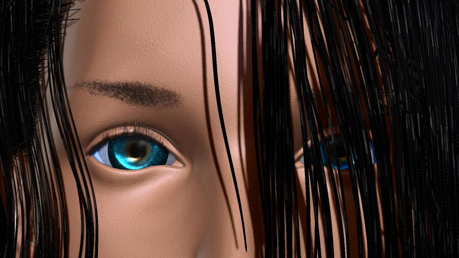 Isabella Smith head royalty-free 3d model - Preview no. 3