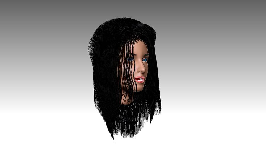 Isabella Smith head royalty-free 3d model - Preview no. 34