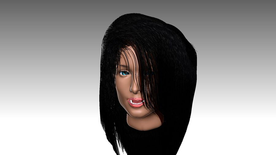 Isabella Smith head royalty-free 3d model - Preview no. 26