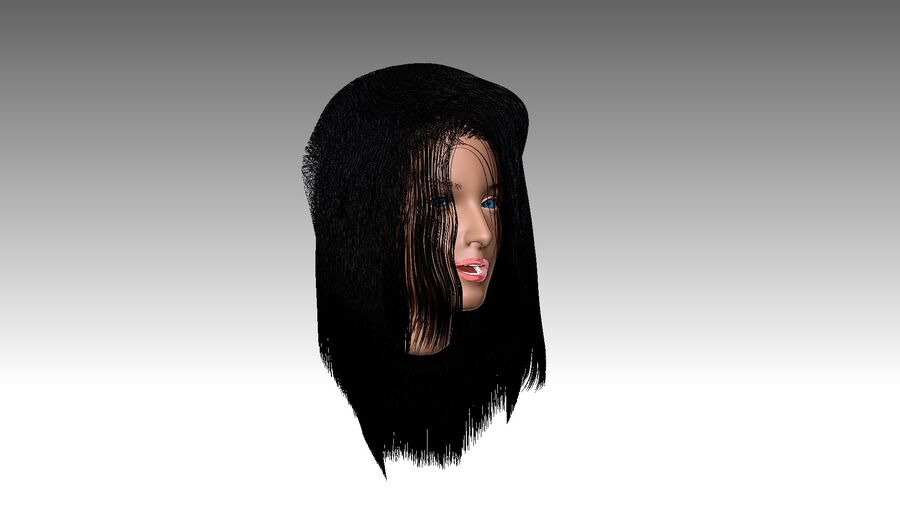 Isabella Smith head royalty-free 3d model - Preview no. 35