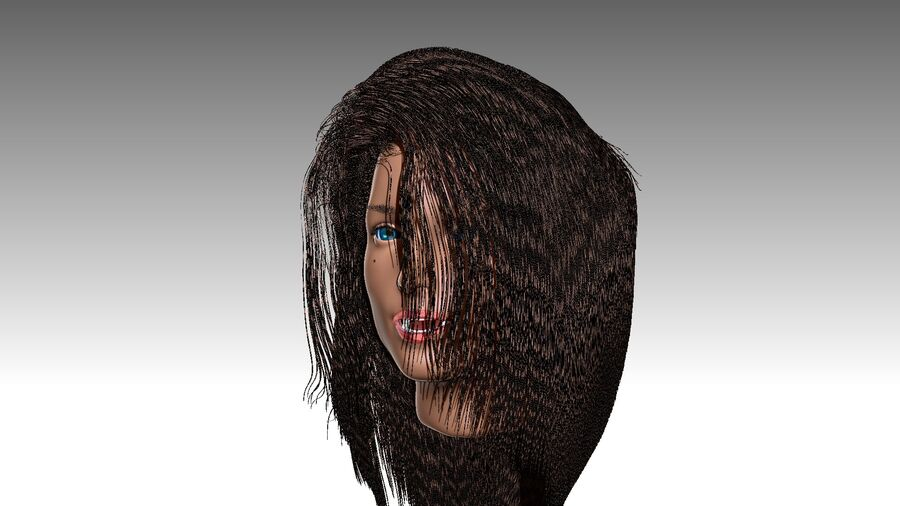Isabella Smith head royalty-free 3d model - Preview no. 19