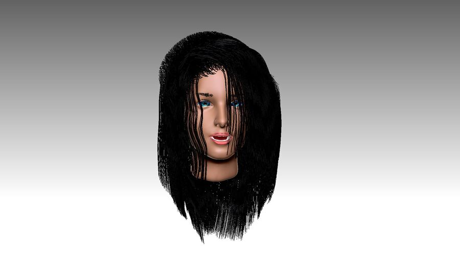 Isabella Smith head royalty-free 3d model - Preview no. 30