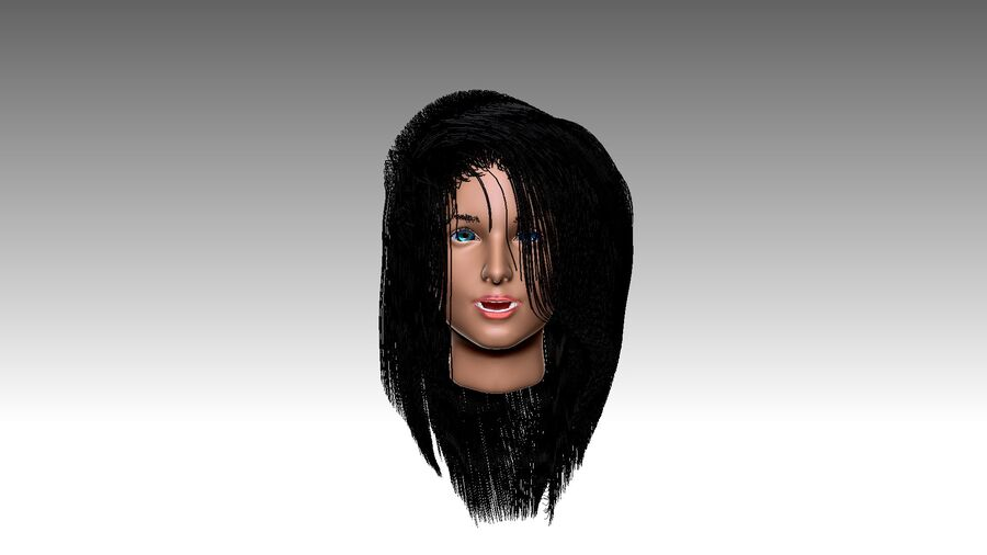 Isabella Smith head royalty-free 3d model - Preview no. 28