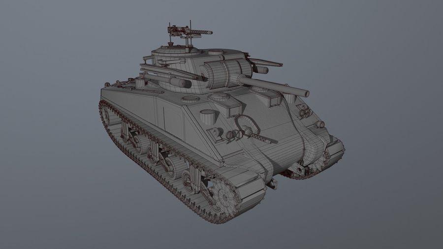 M4 Sherman Tank royalty-free 3d model - Preview no. 6