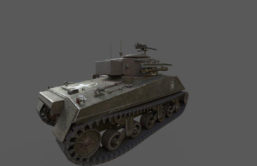 M4 Sherman Tank royalty-free 3d model - Preview no. 3