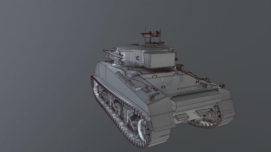 M4 Sherman Tank royalty-free 3d model - Preview no. 8