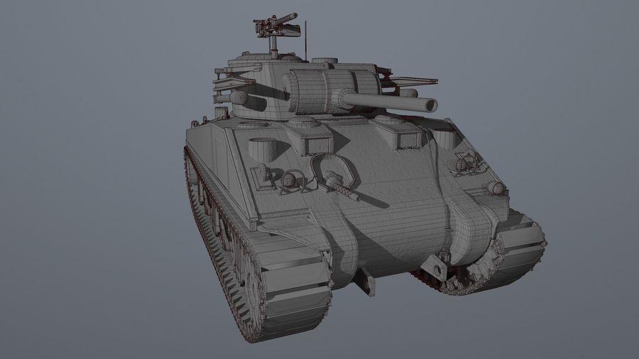 M4 Sherman Tank royalty-free 3d model - Preview no. 7