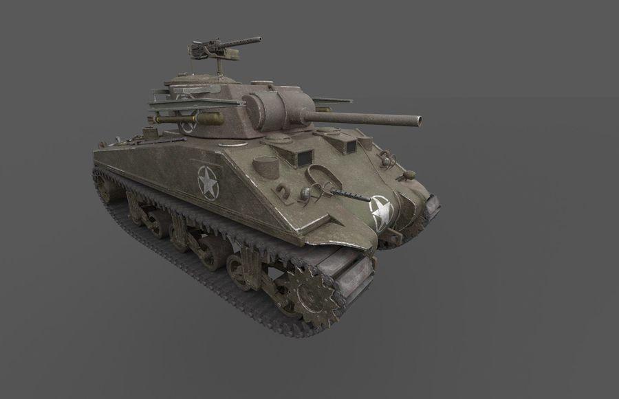 M4 Sherman Tank royalty-free 3d model - Preview no. 1