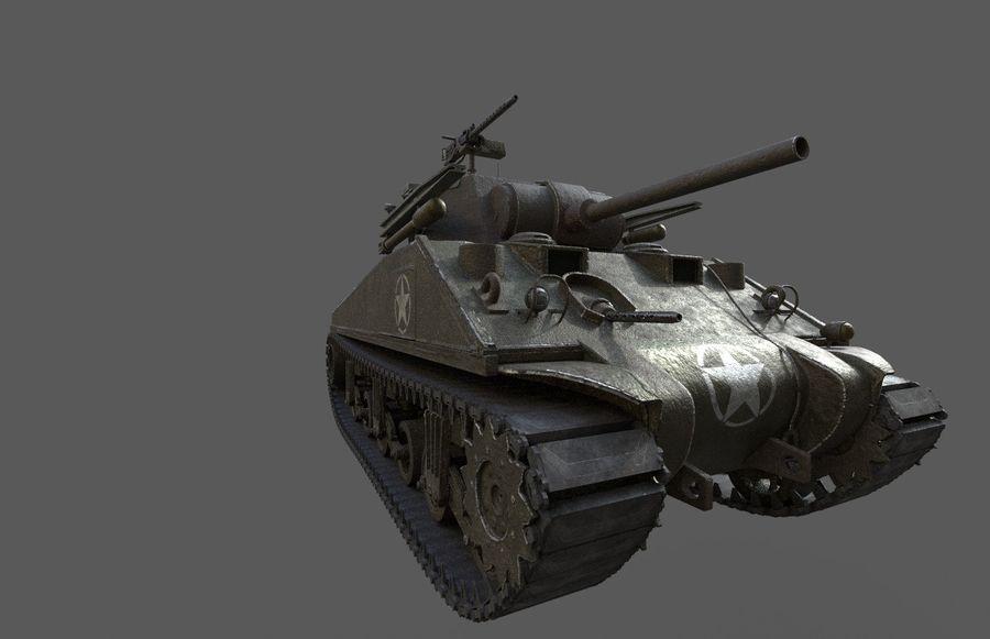 M4 Sherman Tank royalty-free 3d model - Preview no. 2