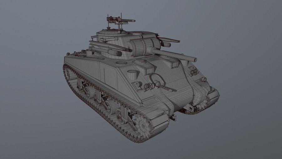 M4 Sherman Tank royalty-free 3d model - Preview no. 4