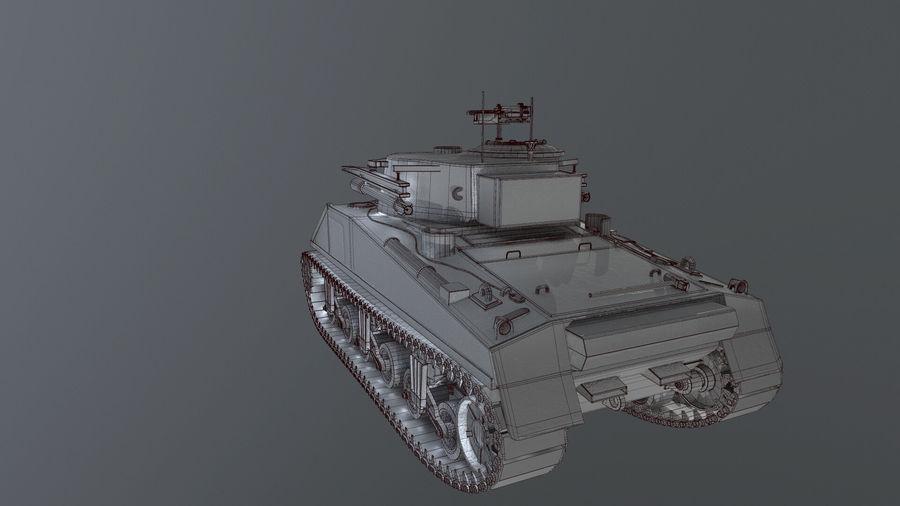 M4 Sherman Tank royalty-free 3d model - Preview no. 5