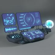 Panel sterowania 3d model