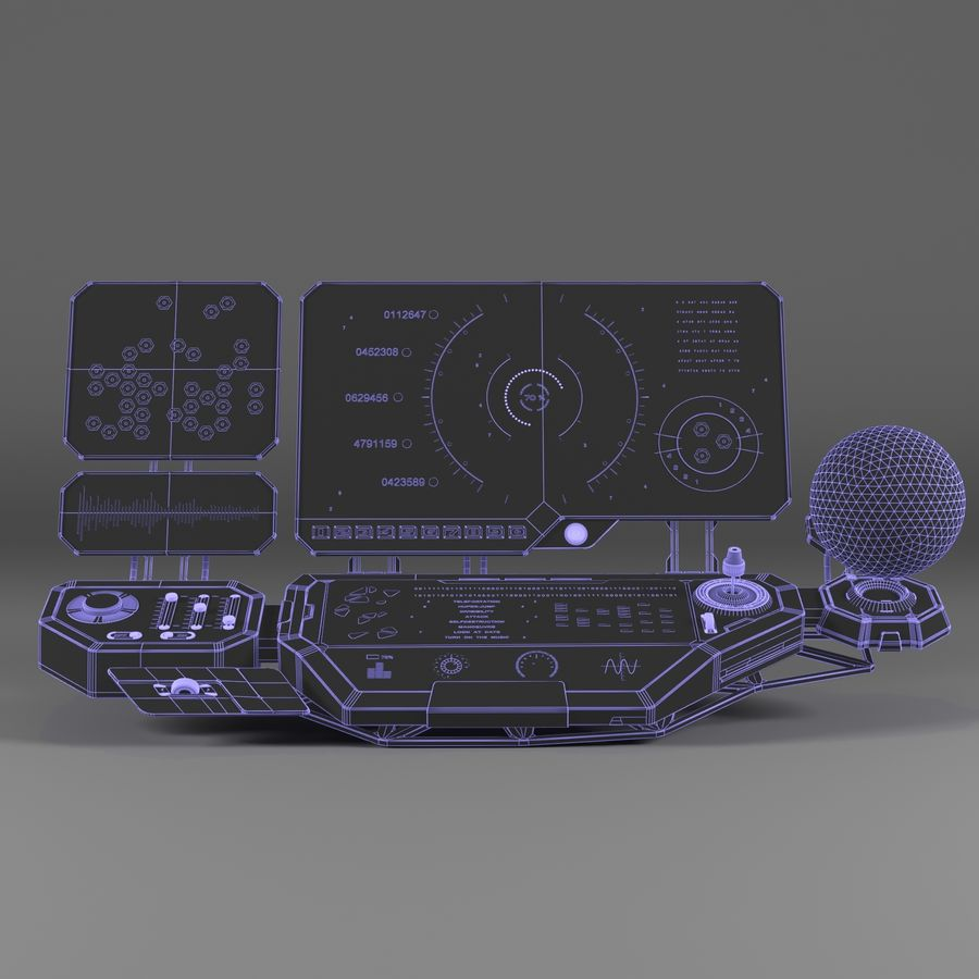 Panel sterowania royalty-free 3d model - Preview no. 6