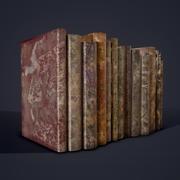 中世の本の行1デザイン1および2 3d model