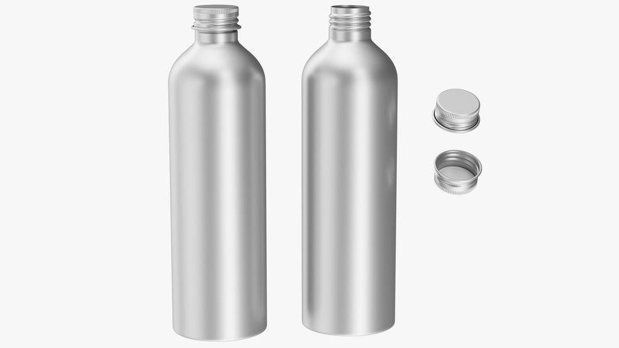 250ml Aluminium Bottle royalty-free 3d model - Preview no. 4
