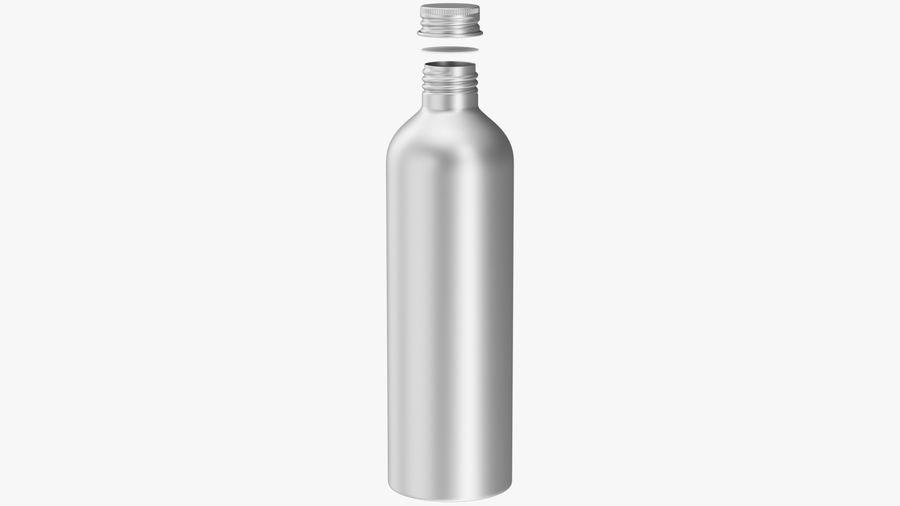 250ml Aluminium Bottle royalty-free 3d model - Preview no. 3
