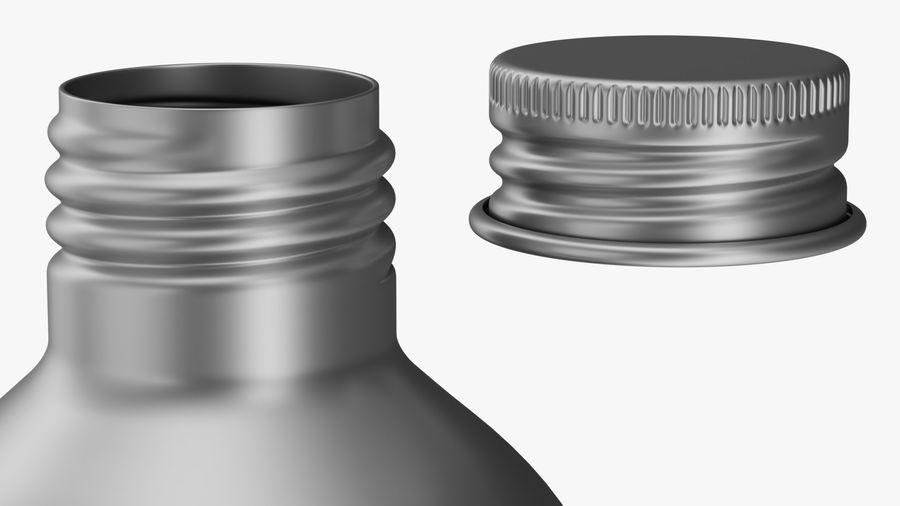 250ml Aluminium Bottle royalty-free 3d model - Preview no. 6