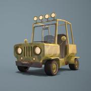 cartoon jeep 3d model