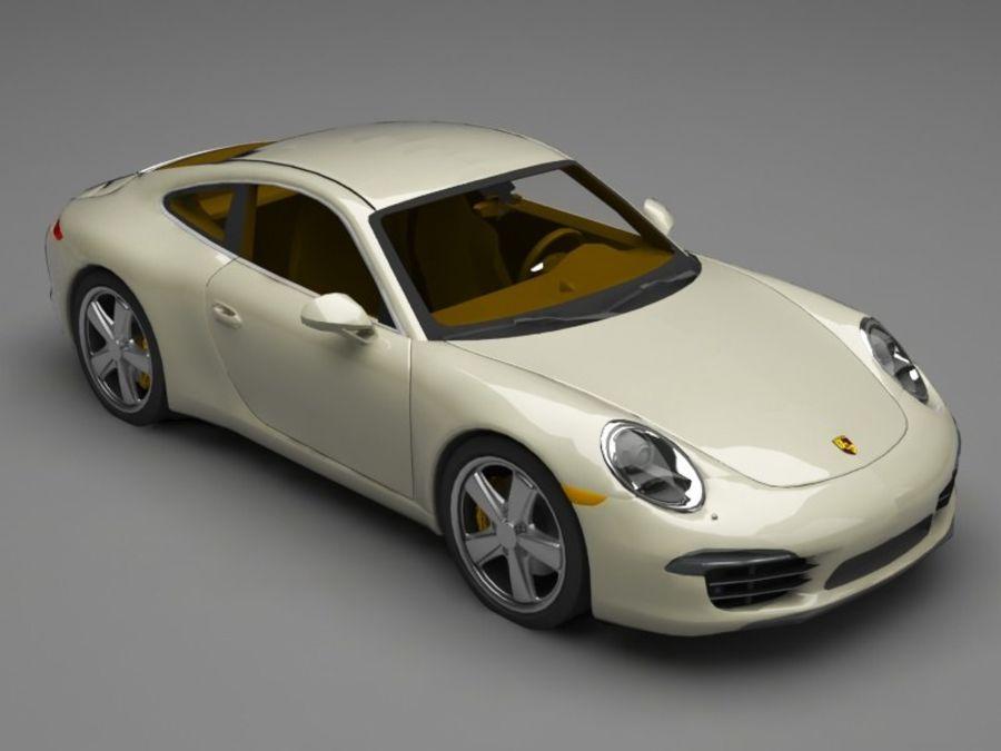 porsche 911 royalty-free 3d model - Preview no. 8