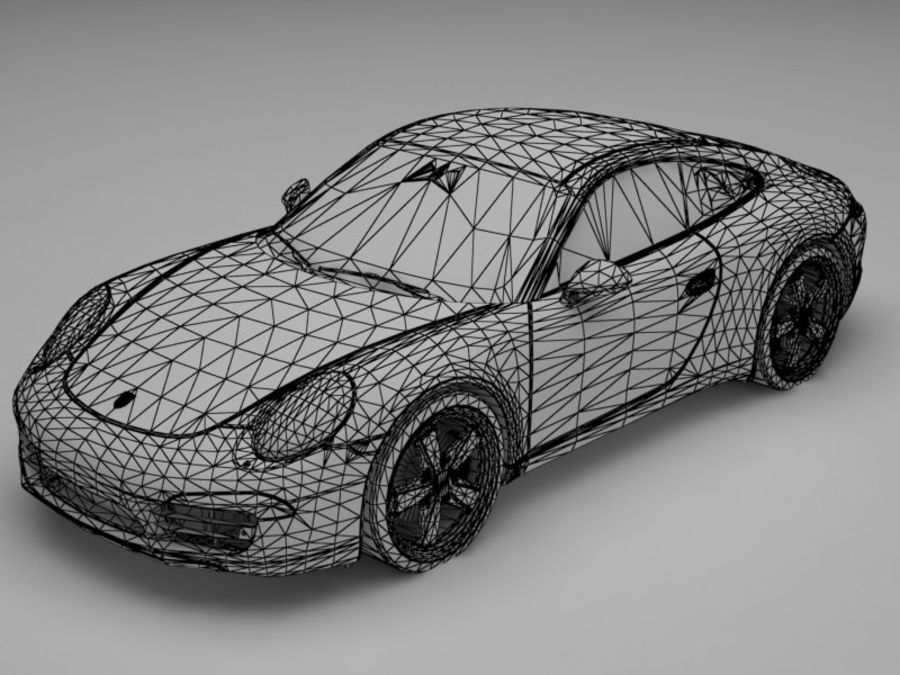 porsche 911 royalty-free 3d model - Preview no. 11