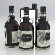 Alcohol Bottle The Kraken Black Spiced Rum 700ml 2020 3d model