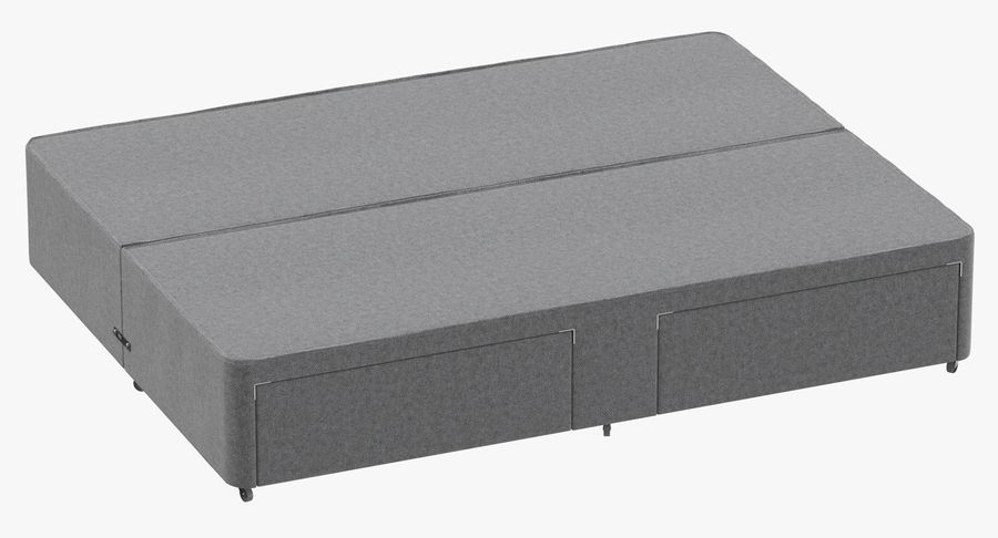 Bed Base 03 Grey royalty-free 3d model - Preview no. 2