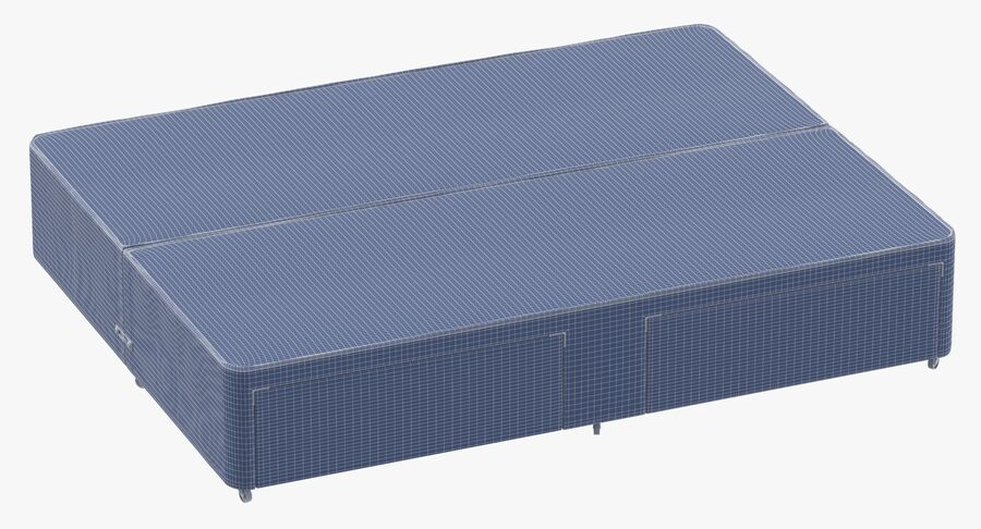 Bed Base 03 Grey royalty-free 3d model - Preview no. 10