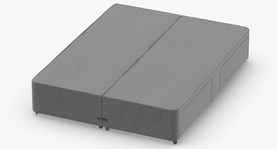 Bed Base 03 Grey royalty-free 3d model - Preview no. 4