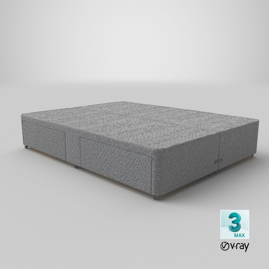 Bed Base 03 Grey royalty-free 3d model - Preview no. 26