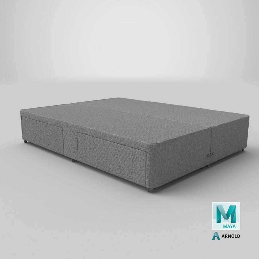 Bed Base 03 Grey royalty-free 3d model - Preview no. 27