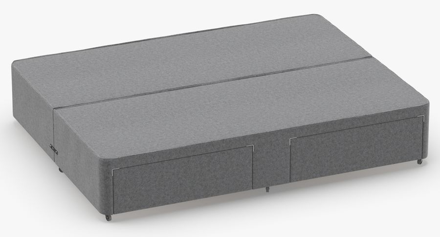 Bed Base 03 Grey royalty-free 3d model - Preview no. 3