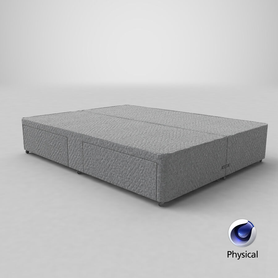 Bed Base 03 Grey royalty-free 3d model - Preview no. 22