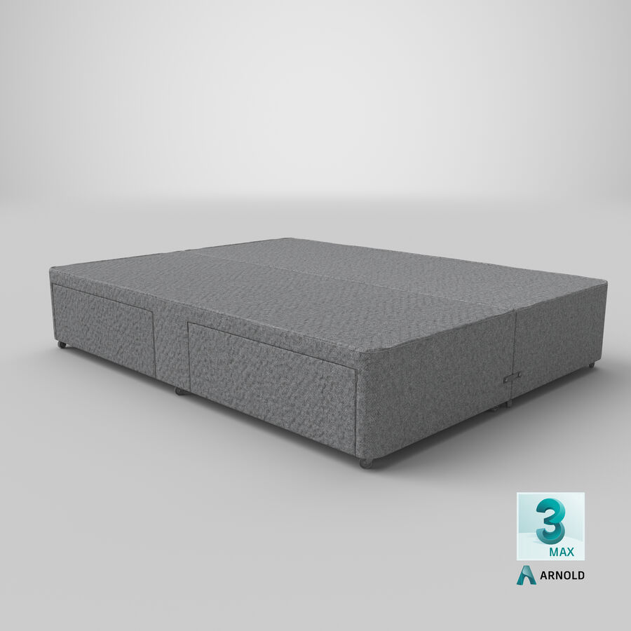 Bed Base 03 Grey royalty-free 3d model - Preview no. 24