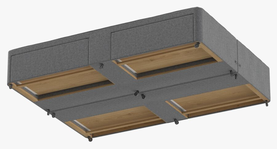 Bed Base 03 Grey royalty-free 3d model - Preview no. 8