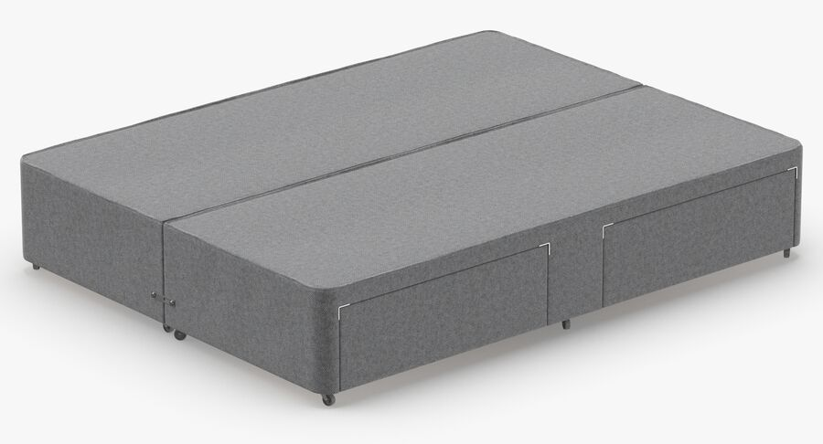 Bed Base 03 Grey royalty-free 3d model - Preview no. 6