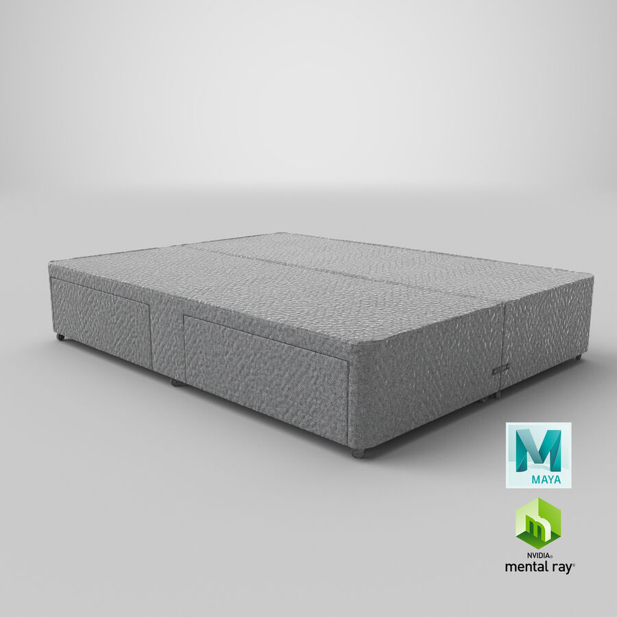 Bed Base 03 Grey royalty-free 3d model - Preview no. 28