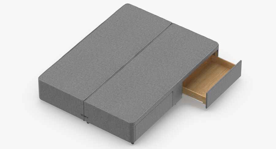 Bed Base 03 Grey royalty-free 3d model - Preview no. 7